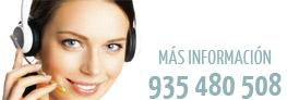 Más información Tel. 935 480 508